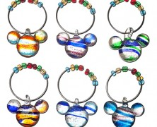 Color Fusion Mickey Mouse Beverage Glass Charm Set