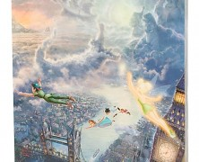 'Tinker Bell and Peter Pan Fly to Never Land' Gallery Wrapped Canvas by Thomas Kinkade