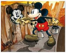 BLOC28 'Mickey da Vinci' Mickey Mouse Giclee on Canvas