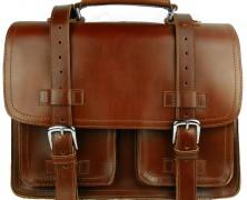 Vagabond Traveler Heavy Duty Leather Laptop Bag