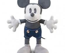 d23 Exclusive 25th Anniversary Black & White Mickey Plush
