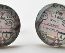 Walt Disney World Vintage Map Cuff Links