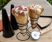 Grilled Pizza Cones