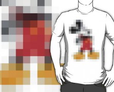 Mickey Mouse Pixelated T-shirt