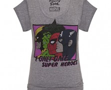 I Only Date Super Heroes Tee