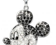 Mickey Mouse Swarovski Pendant