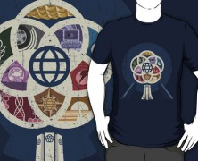 Epcot Center T-shirt and iPhone Case