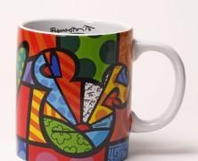 Peace Love and Mickey Enesco Coffee Mug