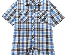 Collared Surf Tours Mickey Mouse Shirt