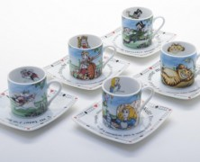 Alice in Wonderland Teacups and Saucers