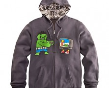 Game Over Hulk and Iron Man Hoodie for Men