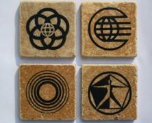 Epcot Symbol Set of Four Coasters