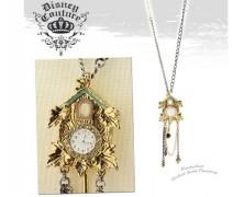 Disney Couture Pinocchio Cuckoo Clock Pendant Necklace