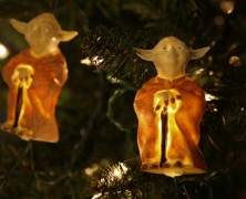 Star Wars Holiday Lights Yoda and R2D2