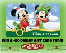 The Mickey Fix Holiday Contest Part 3: Win a $50 Disney Gift Card!