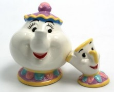 Mrs. Potts and Chip Salt and Pepper Shakers