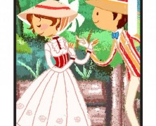 Mary Poppins and Bert iPhone 5 Case