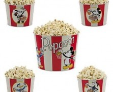 Mickey and Friends 5 piece Tin Popcorn Bucket Set