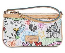 Disney Sketch Leather Dooney & Bourke Wristlet