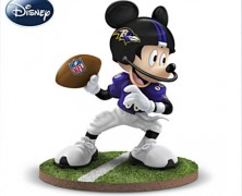 Mickey Mouse NFL Baltimore Ravens Football Collectible Figurine
