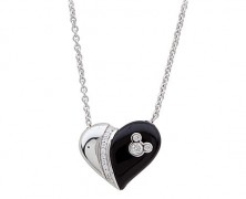 Mickey Mouse Heart Pendant Necklace