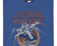 Star Wars X-Wing Fighter and Imperial Crest T-Shirts