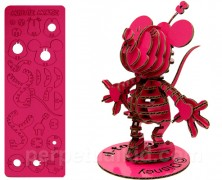 Minnie Mouse Pink 3D Cardboard Puzzle Figure