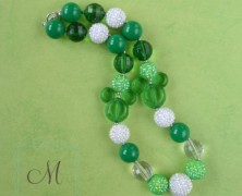 Minnie or Mickey Mouse Emerald Green Necklace