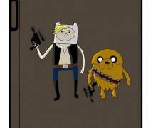 Star Wars Adventure Time Mashup iPad Case
