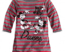 Mickey and Minnie Mouse Boatneck Tee