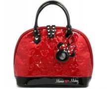 Mickey and Minnie Patent Leather Handbag