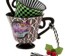 Cheshire Cat Tea Cup Ornament