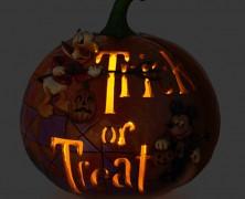 Trick or Treat Ceramic Disney Pumpkin