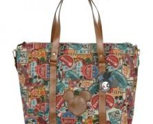 Disney Collage Canvas Crossbody Handbag