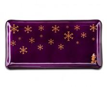 Santa Mickey Purple Glazed Holiday Dish