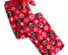 Disney Santa Mickey and Minnie Fleece Pants