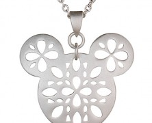 Mickey Mouse Necklace with Filigree Pattern