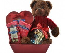Ghirardelli Chocolate Gift Basket with Teddy Bear