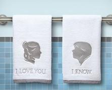 Star Wars Han Solo and Princess Leia Towels