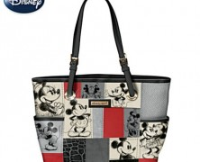Mickey and Minnie Patchwork Handbag