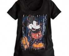 Sequined Mickey Mouse Tee for Women