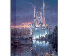 Cinderella Castle Royal Reflection Giclee Painting