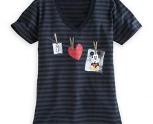 I Heart Mickey Mouse Striped Tee