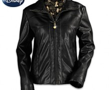 Mickey Mouse Black Faux Leather Jacket