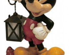 Mickey Mouse Solar Powered Garden Statue