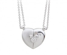Mickey Mouse Magnetic Silver Necklace by Petra Azar