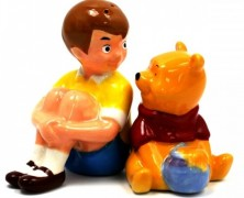 Christopher Robin and Pooh Salt and Pepper Shakers