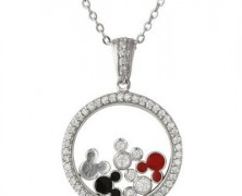 Mickey Mouse Cubic Zirconia Necklace