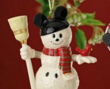 Disney Mickey Mouse Snowman Ornament by Lenox