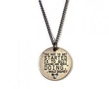 Walt Disney Quote Necklace